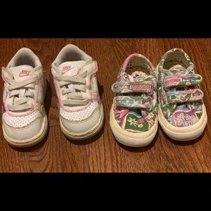 2 pair of shoes-toddlers